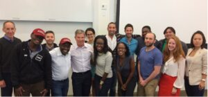 Steve after conducting MBA class with guest entrepreneurs