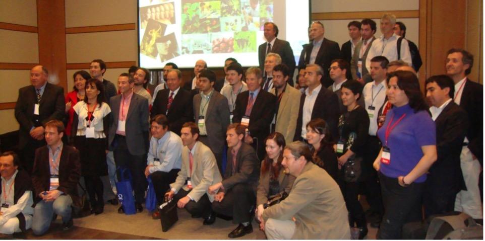 Steve with Chilean entrepreneurs